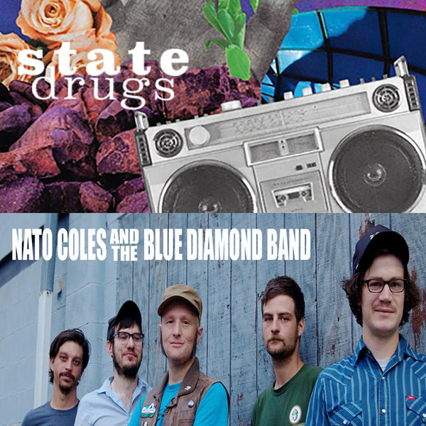 State Drugs / Nato Coles And The Blue Diamond Band - split cs
