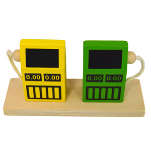 wooden toy gas pumps
