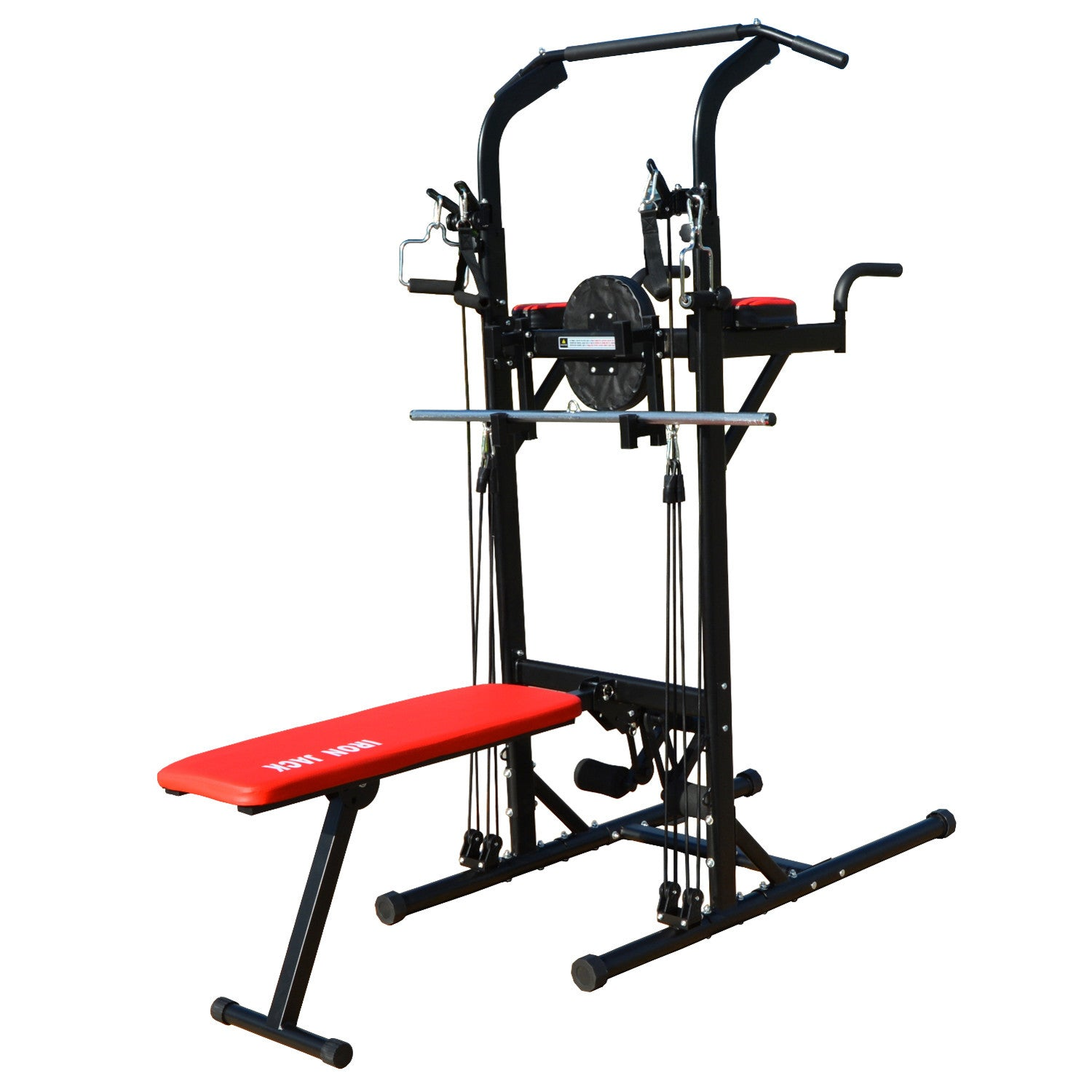 iron jack muli function power tower work out exercise station pulliron jack multi function power tower