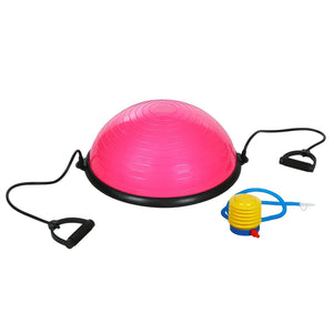Self Balance Bosu Stability Ball 23 Inch Fitness Yoga Strength Exercise Trainer with Pump