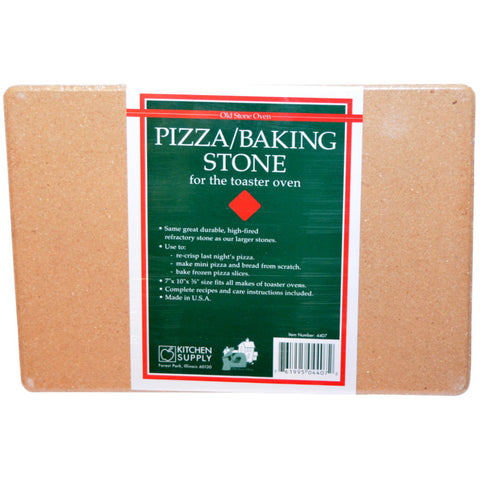 Kitchen Supply Compact Pizza Baking Stone for the Toaster Oven