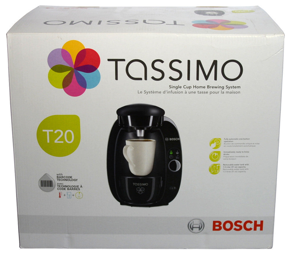Bosch Tassimo T20 Coffee Maker Brewing System Black Top Shop Sales