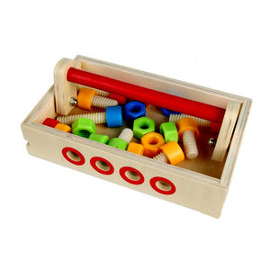Wooden Toy DIY Workbench Learning Pretend Play Tool Set (Small)
