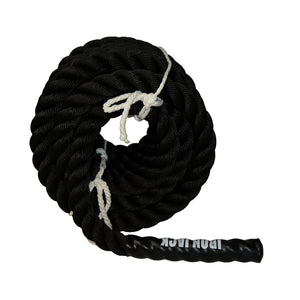 Iron Jack Fitness Poly Dacron Battle Rope Anchor Straps for Core Strength Training Agility Speed