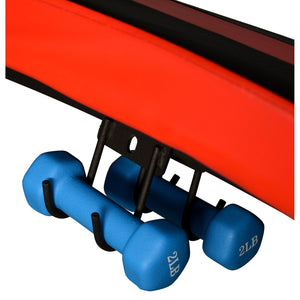 Iron Jack Gym Size Curved Inclined Sit Up Bench With Speedball, Dumbbells and Resistance Cords