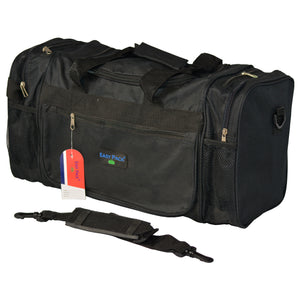 Easy Pack Sports Bag with Adjustable Strap Black