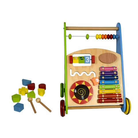 Baby Walker Push Wooden Toy