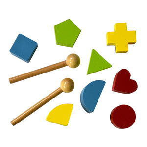 Wooden blocks and xylophone sticks