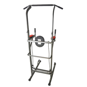 I J Fitness Pull Up Power Tower Full Back