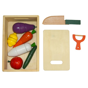 Vegetable Cutter Wooden Role Play Toy