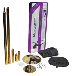 X Dance Pole Titanium Gold with Carry Case