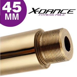 Titanium Gold X-Dance Pole Extension 250mm 9.8 inches