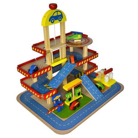 Wooden Toy Parkade Set
