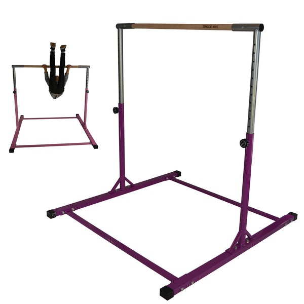 purple horizontal bar gymnastics