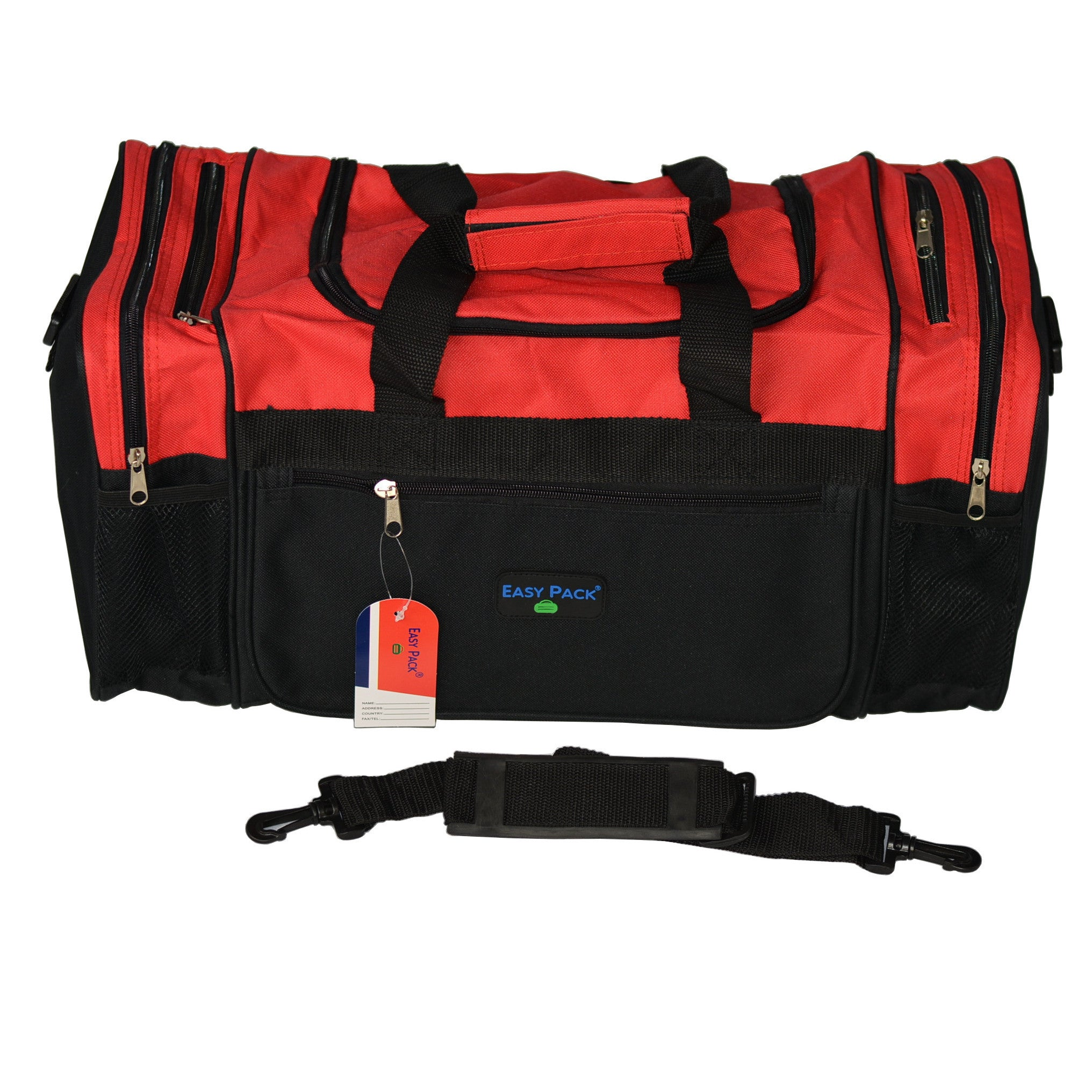 Easy Pack Sports Carry On Travel Duffle Gym Bag with Adjustable ... 7776929c5294a