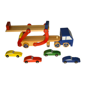 Wooden Toy Car Carrier