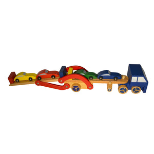 Wooden Toy Truck and Car Carrier