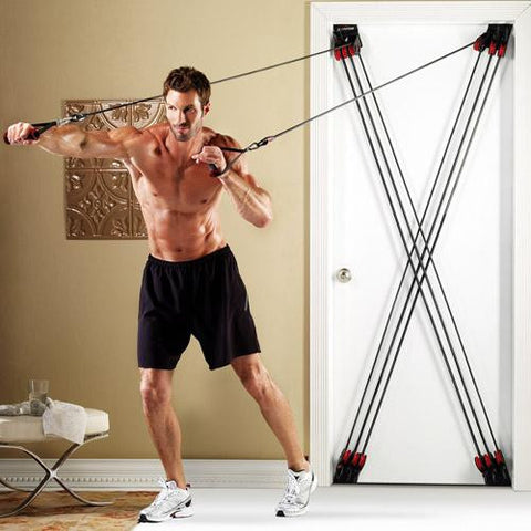 ... X-Factor Door Gym Total Training Workout Resistance Band Exercise System ... & X-Factor Door Gym Total Training Workout Resistance Band Exercise System
