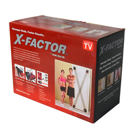 X-Factor Door Gym Total Training Workout Resistance Band Exercise System