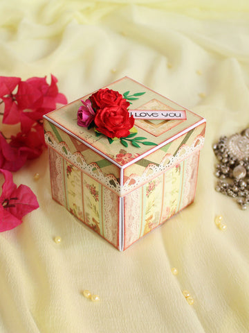 Handmade Paper I Love You Ring Box