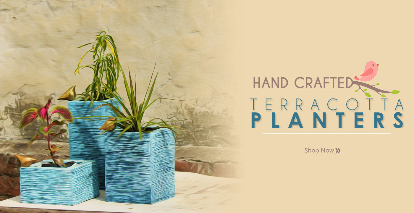 Kraftnation Handcrafted Terracotta Planters