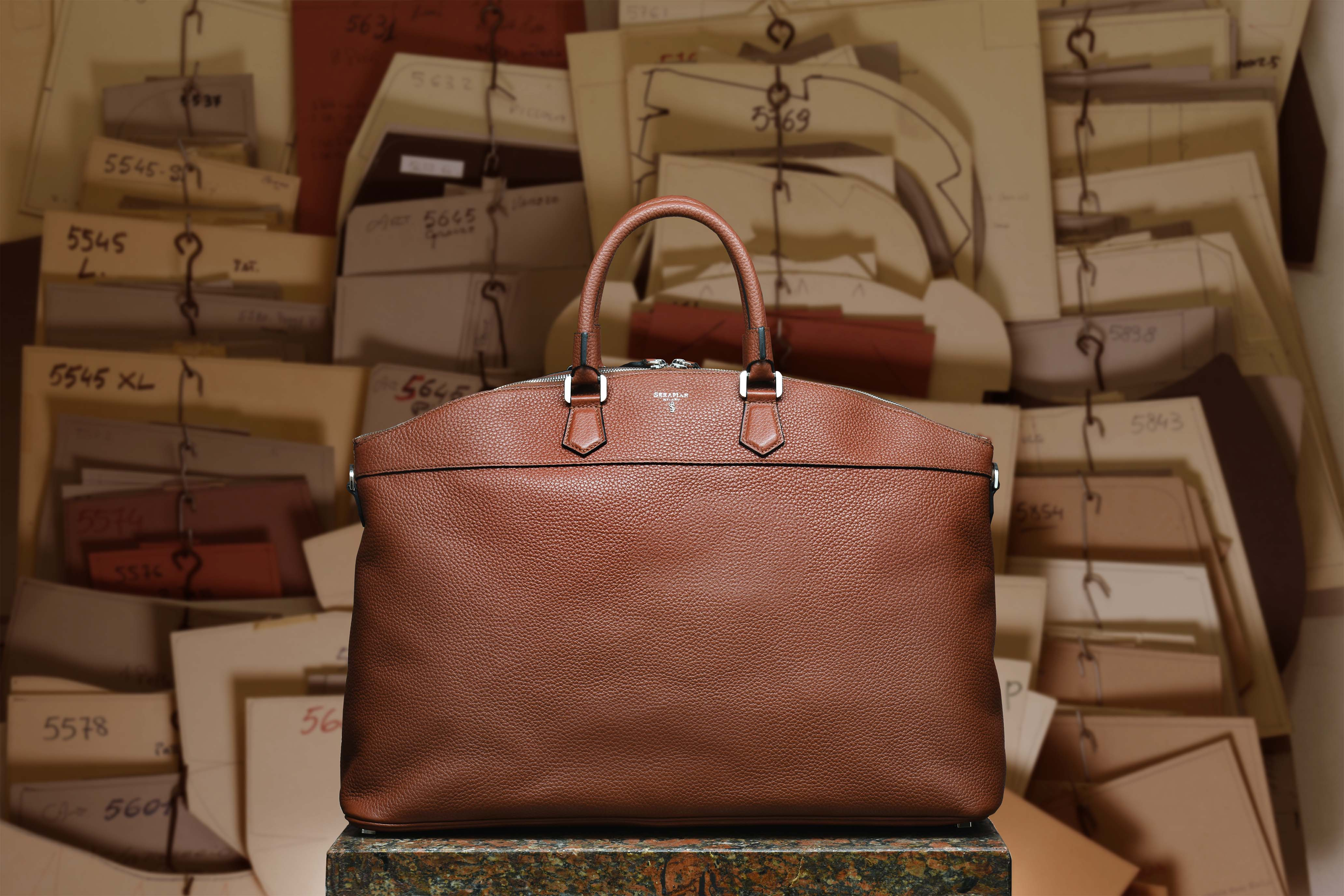 Brown leather East/West Leisure Bag for travel or free time | View more