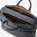 Large Briefcase in Cachemire Leather ##AvioBlue