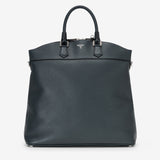 "North/South Tote Bag ""Leisure 14"", Calf leather ""Cachemire"" Collection ##Blue"