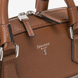 Slim Document Briefcase, Calf Leather, Cachemire Collection ##New Sienna