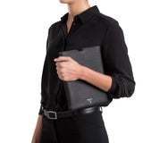 Soft iPad Folio, Calf leather, Cachemire Collection ##Black