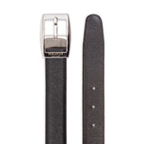 Double face leather belt ##Black/Dark Brown