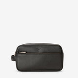 Wash Bag, Evoluzione Leather ## Eclipse Black