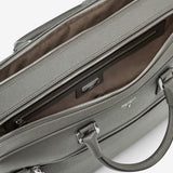 Double briefcase with zip, Evoluzione ##Anthracite Grey