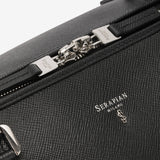 "Travel Holdall, Calf Leather ""Evoluzione"" Collection ##Black"