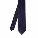 Harvard Tie with Polka dot ##Blue