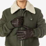 Gloves, Nappa leather, Medium ##Dark Brown