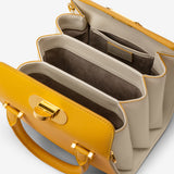 Mini Villa Bag In Seta Leather##Yellow/Cream