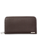 Double zip around wallet, Stepan/Evolution ##Choco/Dark Brown