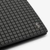 Billfold 8 Credit Card Case, Waterproof spread cotton and leather, Stepan Collection ##Asphalte Grey/Black