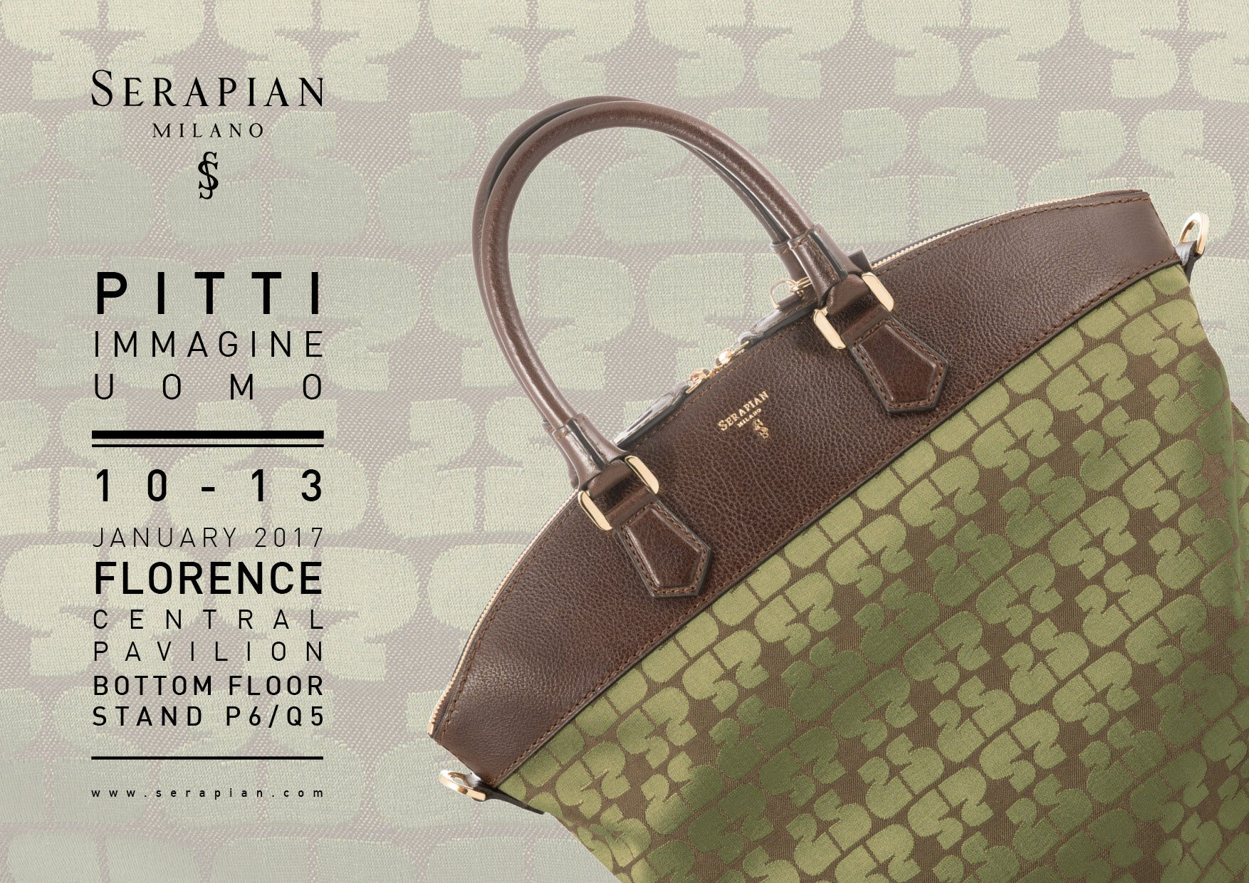 Serapian Save the Date for Pitti Uomo Jan 2017