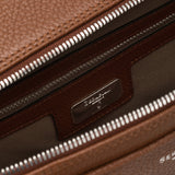 Double Gusset Briefcase, Calf Leather, Cachemire Collection ##New Sienna