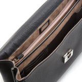 Double Briefcase with Lock, Cachemire ##Black