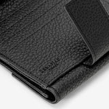 Small Flap wallet, Cachemire, Black