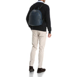 Backpack with front pocket, Cachemire/Smooth##Ocean Blue