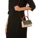 Audrey Bag Mini, Elaphe ##Black/Optical White/Coral Red