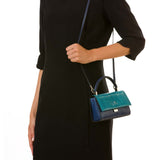 Audrey Bag Mini, Elaphe ##Petrol/Klein Blue