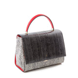 Audrey Bag, Elaphe ##Black/Optical White/Coral Red