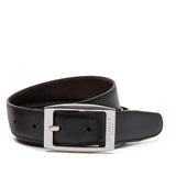 Double face belt, Evoluzione Collection ##Black/Dark Brown