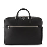 Double Gusset Briefcase, Calf Leather, Evoluzione Collection ##Black