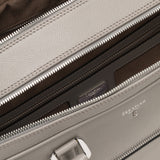 Double briefcase with zip, Evoluzione ##Moon Grey